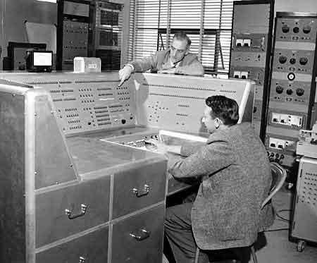 Ordinateur à transistor du DTRE.